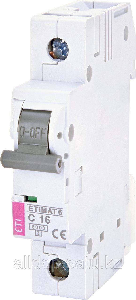 Автоматический выключатель ETIMAT 6 1p C16