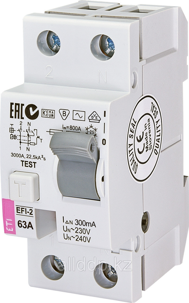 Дифференциальное реле EFI-2AC 63/0.3