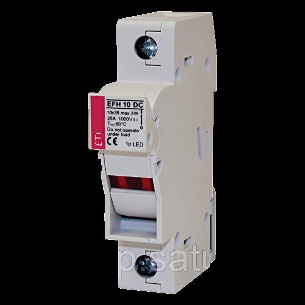 Разъединитель  для  предохранителей ETI EFH 10 DC 1p LED AD