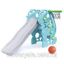 ГОРКА CHING-CHING  с баскет кольцом Саксофон (голубой) 153х88х100h