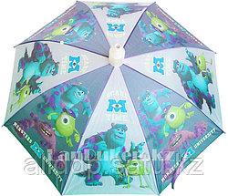 """Зонт-трость Monsters Inc """"Корпорация монстров"""" со складным пластиковым чехлом (уценка)"""
