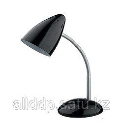 Гнущаяся лампа-светильник черный (настольный)