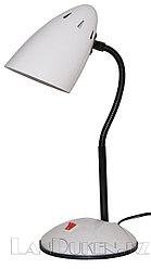 Гнущаяся лампа-светильник белый (настольный)