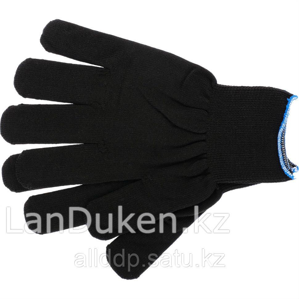Перчатки нейлон 13 класс чёрные XL 67843 (002)