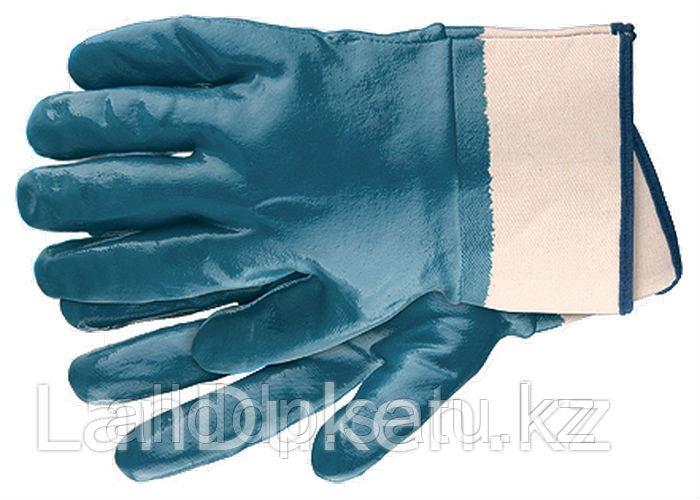 Перчатки рабочие из трикотажа с нитриловым обливом крага L 67759 (002)