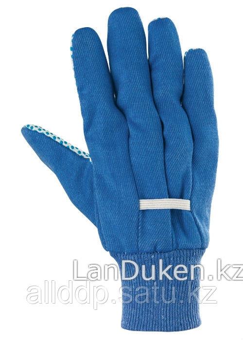 Перчатки рабочие х/б ткань с ПВХ точкой манжет XXL СИБРТЕХ 67766 (002)