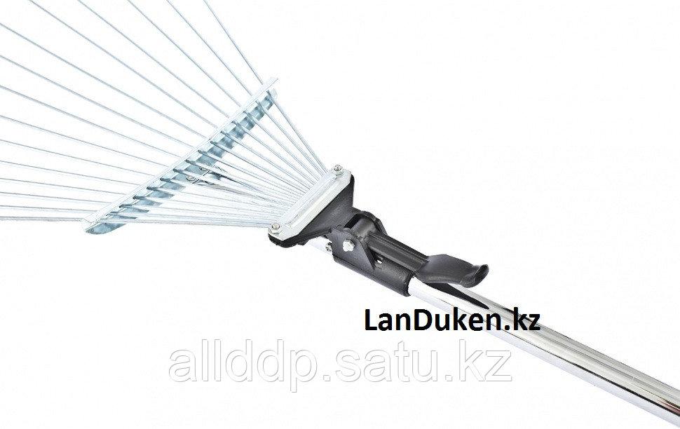Грабли веерные 15-зубые алюминиевый черенок 1600 мм раздвижные PALISAD 61756 (002)