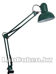 Светильник лампа настольный на струбцине (зеленый)