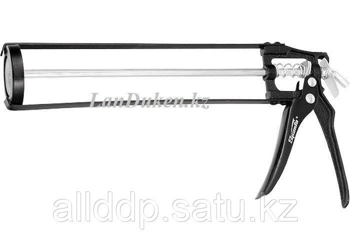 """Пистолет для герметика 310 мл """"скелетный"""" усиленный с фиксатором 6-гранный шток 7 мм 886125 (002)"""