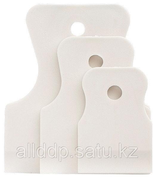 Набор шпателей 40-60-80 мм белая резина, 3 шт. Сибртех 85803 (002)