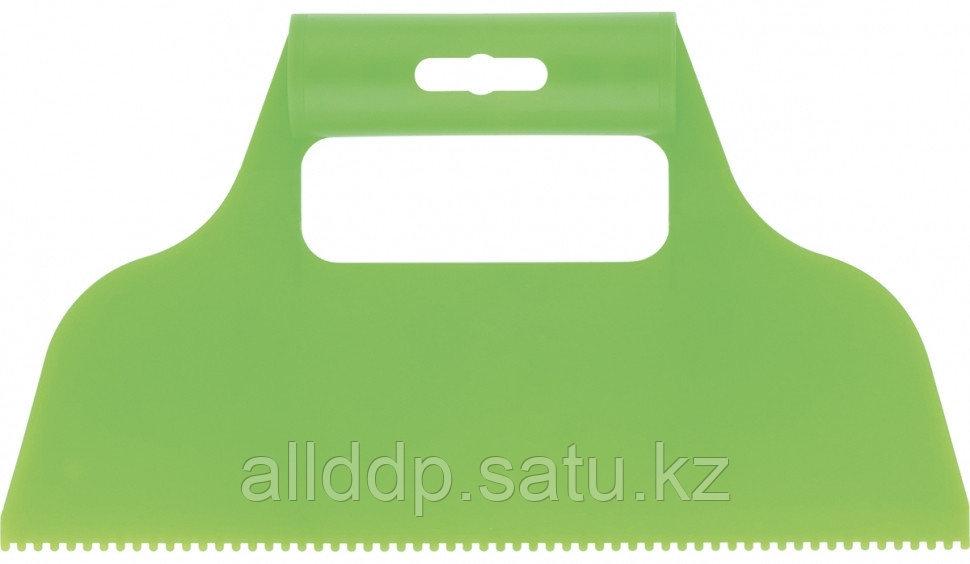 Шпатель для клея пластмассовый 2х2 мм зубчатый Сибртех 86013 (002)