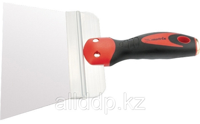 Шпатель фасадный из нержавеющей стали 200 мм широкое полотно 2-комп. ручка Matrix 85502 (002)