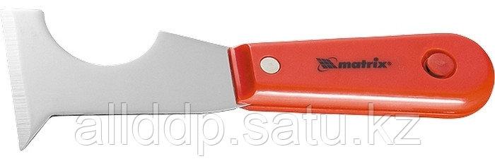 Шпатель-скребок стальной пластмассовая ручка Matrix 85299 (002)