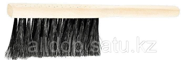 Щетка-сметка 3-рядная 280 мм деревянная ручка Сибртех 84628 (002)