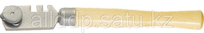 Стеклорез 3-роликовый с деревянной ручкой 87217 (002)