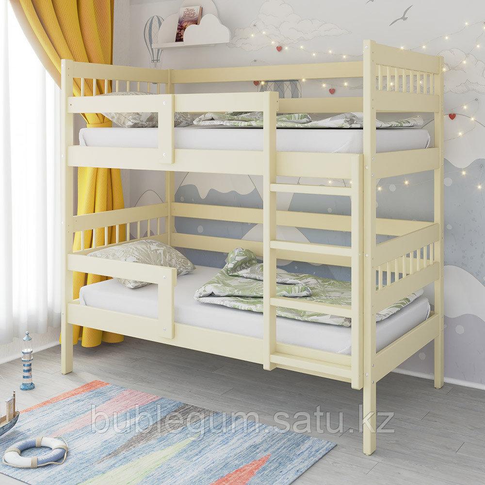 PITUSO Кровать Подростковая двухъярусная Hanna -2 Белый и Бежевый