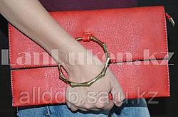 Клатч с ручкой-браслетом красный 9078