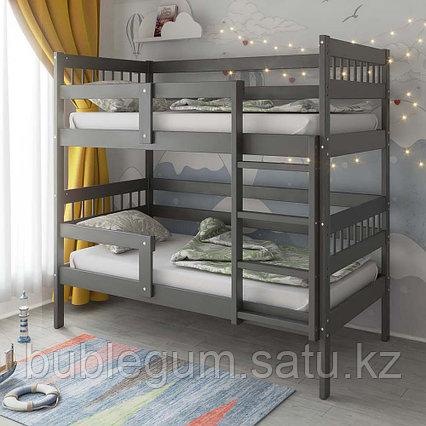 PITUSO Кровать Подростковая двухъярусная Hanna -2 Графит, Серый, Капучино и Индиго