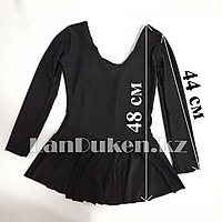 Костюм из лайкры для танцев и балета черный Высота 48 см (рост 130)
