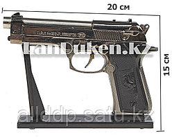 """Зажигалка, пистолет """"Pietro Beretta U.S. 9MM Gun"""" Pistol Lighter (длина 20 см) уценка"""
