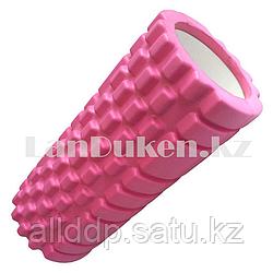 Ролик для фитнеса и йоги цвета в ассортименте (длина=30 см. диаметр=8,5 см)  Розовый