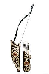 Садак (набор лучника: колчан с луком и стрелами)