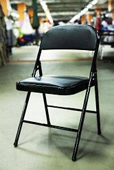 Складной металлический стул, черный