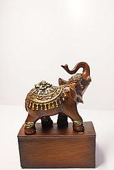 "Статуэтка ""Слон на подставке"", 12х9х16 (коричневый)"