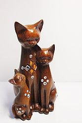 "Статуэтка ""Кошка с котятами"", 24х14 (коричневый)"