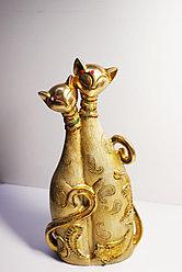 "Статуэтка ""Две кошки"", 30х16 (золотистый)"