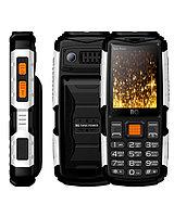 Мобильный телефон BQ-2430 Tank Power Чёрный+Серебро -
