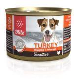 BLITZ TURKEY 200г Индейка с печенью влажный корм для собак