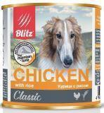 BLITZ CHIKEN with rice 400г (Курица с рисом) – влажный корм для собак
