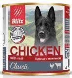 BLITZ 400г Курица с телятиной влажный корм для собак CHIKEN with veal