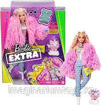 Кукла Barbie Extra блондинка в розовой куртке