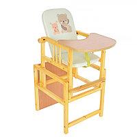 Стул-стол для кормления BamBola регулируемая спинка Мишка / Щенок Салатовый
