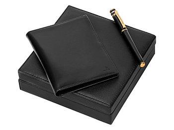Набор Jean-Louis Scherrer (Жан-Луи Шеррер): портмоне из натуральной кожи, ручка роллер Galaxie