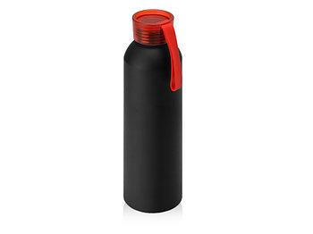 Бутылка для воды Joli, алюминий, черный/красный