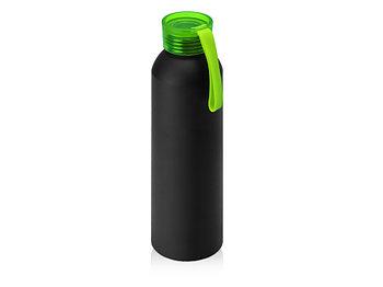Бутылка для воды Joli, алюминий, черный/зеленое яблоко