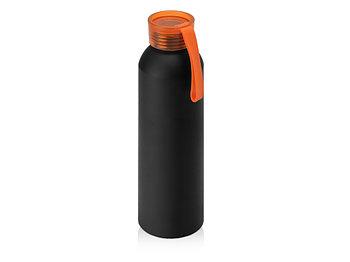 Бутылка для воды Joli, алюминий, черный/оранжевый