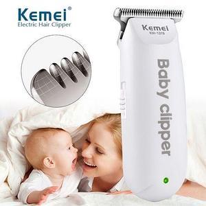 Машинка для стрижки младенцев и детей портативная беспроводная Kemei Baby Clipper с 3 насадками