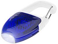 Брелок - фонарик с отражателем и карабином, ярко-синий/белый