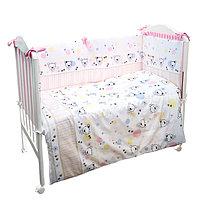 Детское постельное бельё «Конфетти», размер 110×143 см, 112×148 см, 40×60 см, цвет розовый