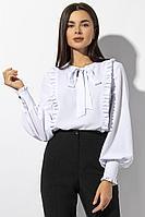 Женская осенняя белая деловая блуза VIZAVI 644 белый 44р.