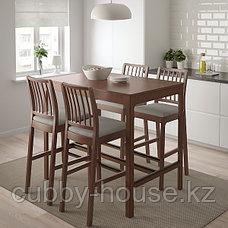 EKEDALEN ЭКЕДАЛЕН Стул барный, коричневый/Оррста светло-серый75 см, фото 3