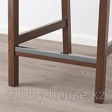 EKEDALEN ЭКЕДАЛЕН Стул барный, коричневый/Оррста светло-серый75 см, фото 2
