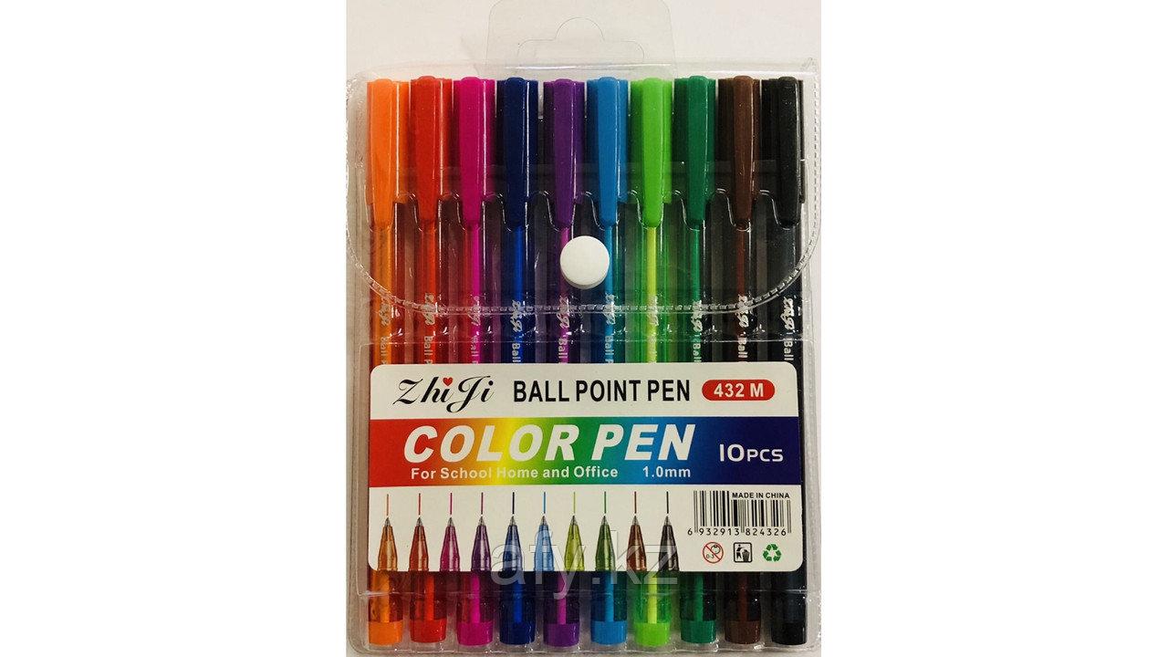 Ручка шариковая 432М 10 цветов