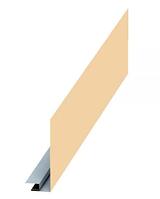 Планка карнизного свеса сложная 185х50х3000 Глянец МП