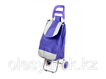 Сумка-тележка хозяйственная на 30 кг, фиолетовая, полоска, PERFECTO LINEA, фото 2