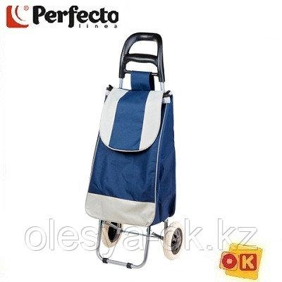 Сумка-тележка хозяйственная на 30 кг, синяя, полоска, PERFECTO LINEA
